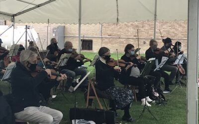 TPO string section play Elgar, Holst and Bach outside!